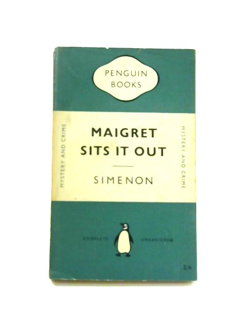 Maigret Sits it Out - Framed Vintage Penguin Book by Georges Simenon