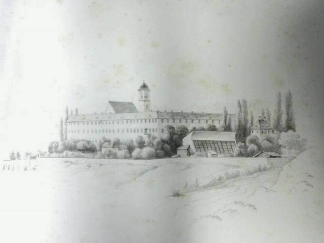 Pencil Drawing of Building and Countryside By Unknown