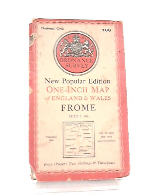 One Inch Map of England & Wales Sheet 166 Frome Seventh Series by Anon