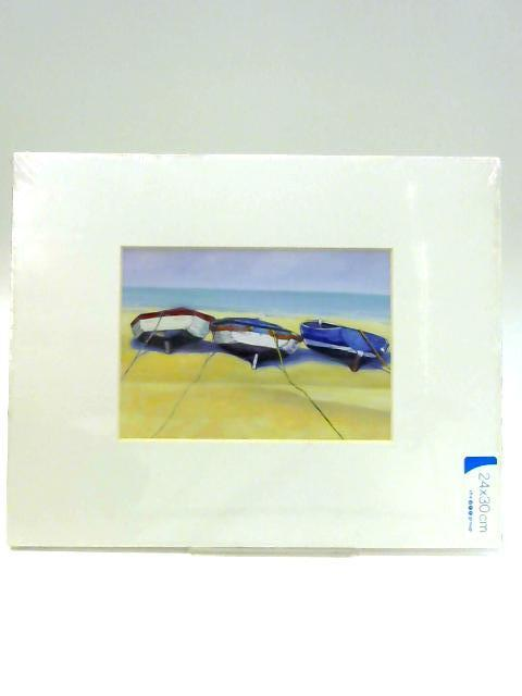 Beach Boats, St Ives Print with Mount By Anon
