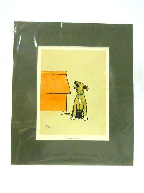 I Gave a Howl - Dog Print in Green Mount by Cecil Aldin