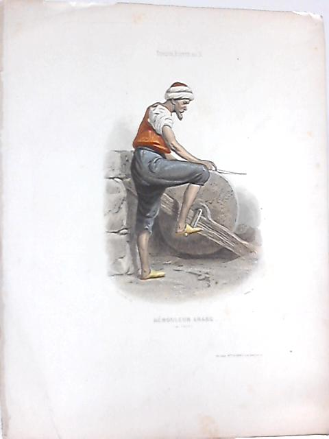 Vintage French Plate of a Remouleur Arabe (au Caire) By Anon