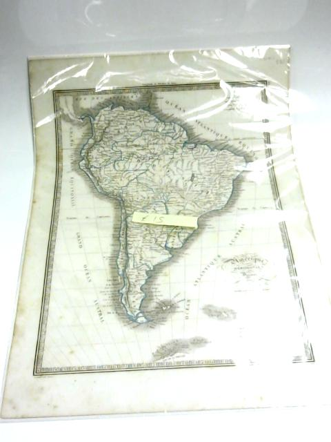 Antique Map of South America, Amerique Meridionale by Anon