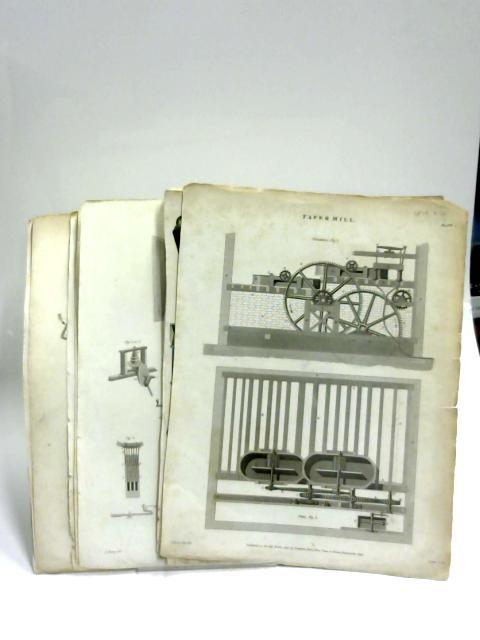 B&W Prints of Machines, Miscellany and Harps by Anon