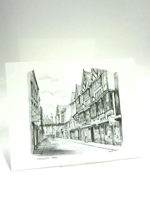 B&W Print of Stonegate York by Brian Lewis