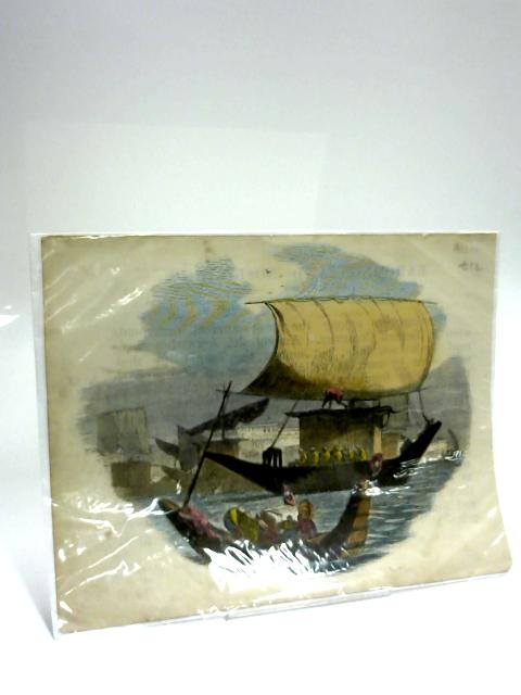 Colour print of Two Ships by Anon
