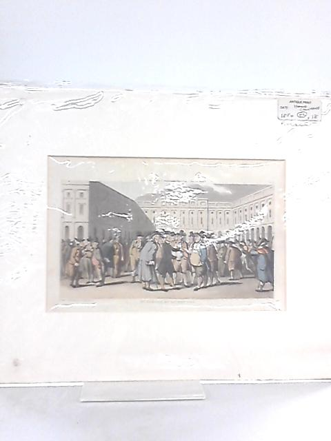 Vintage Mounted Engraving of 'Dr. Syntax at Liverpool' by Rowlandson By Anon
