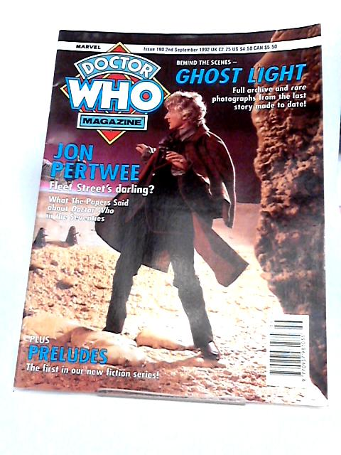 Doctor Who magazine back issue, 190 Ghost Light - Jon Pertwee Fleet Street's Darling - preludes by Unknown
