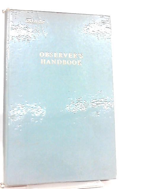 The Marine Observer's Handbook (Met. O) By Meteorological Office