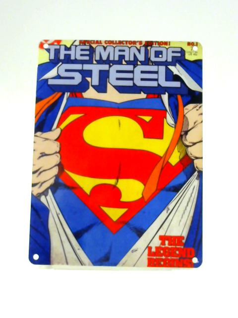 Superman Steel Wall Sign by Anon