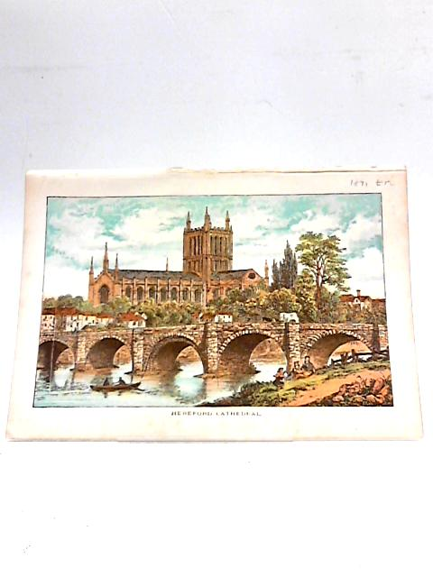 Colour Illustration of Hereford Cathedral. By Unknown