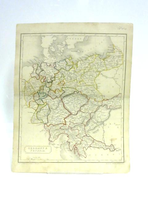 Map of Germany and Prussia by S. Hall