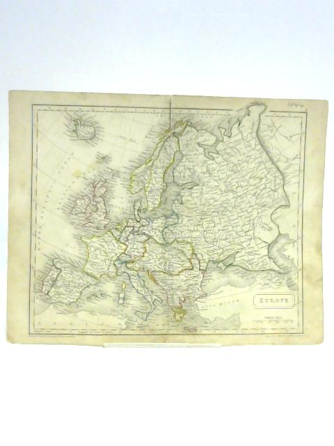 Map of Europe By S. Hall
