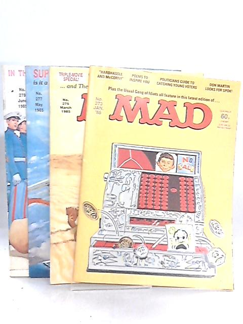 MAD 1985 Nos 273, 275, 277 & 278 (4 Issues) By Albert feldstein
