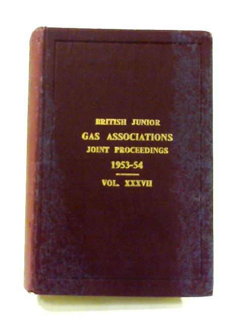 British Junior Gas Association Transactions 1953-54 by Anon