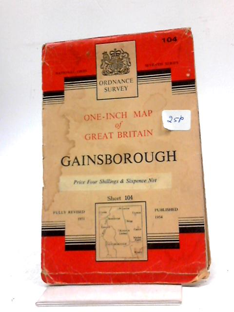 Ordnance Survey One Inch Sheet 104 gGainsborough by Anon