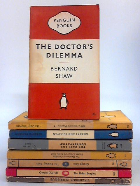 Penguin Bundle - Set of 10 Mixed Colour Striped Vintage Penguin Paperbacks by Various
