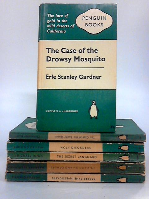Penguin Bundle - Set of 10 Green Crime Striped Vintage Penguin Paperbacks by Various