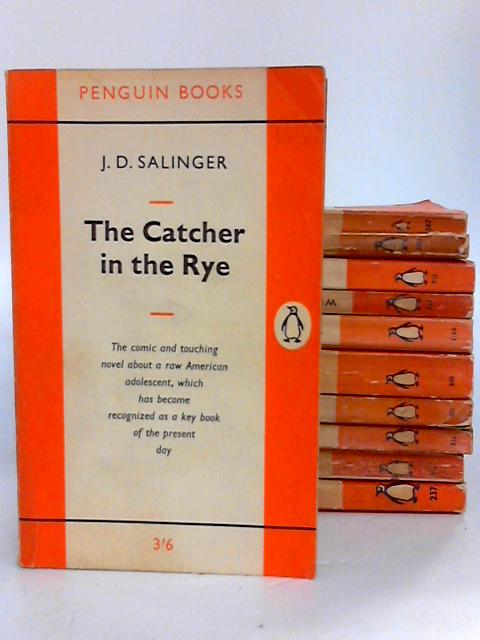 Penguin Bundle - Set of 10 Orange Striped Vintage Penguin Paperbacks by Various