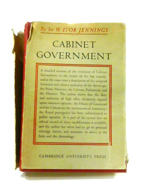 Cabinet Government By Ivor Jennings