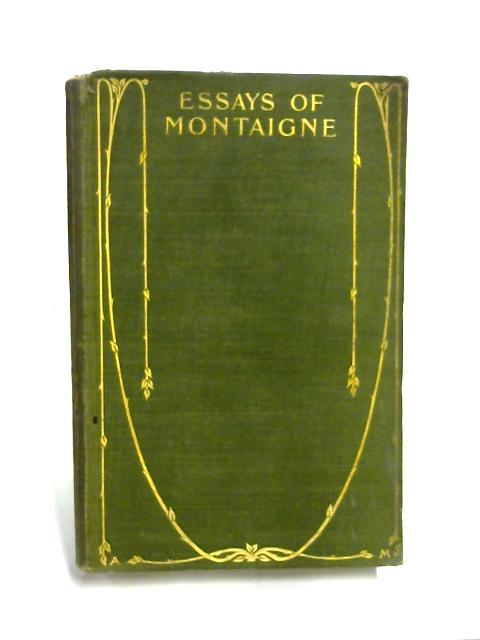 Essays of Montaigne Vol 2 By Cotton