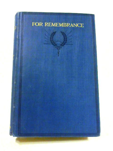 For Remembrance by A. St. John Adcock