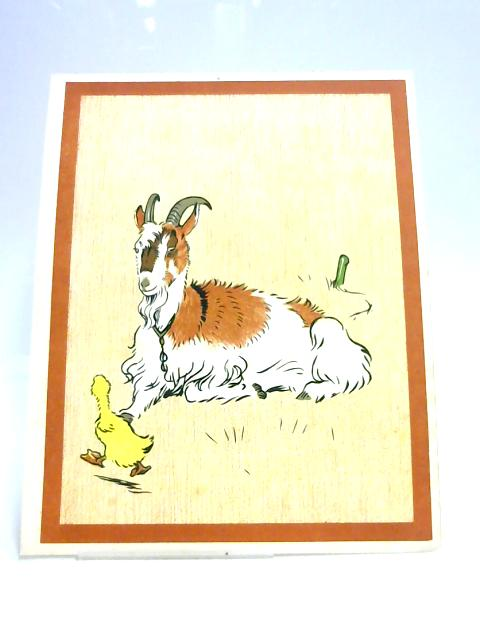 Print of a Goat by Unknown
