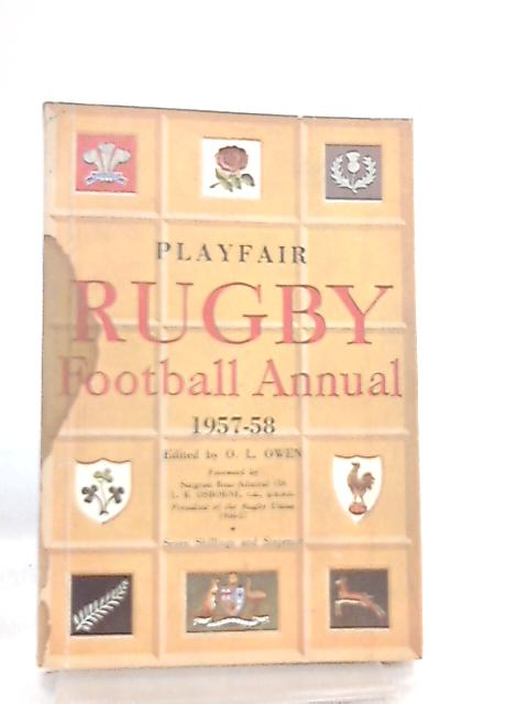 Playfair Rugby Football Annual 1957-58 By O. L. Owen