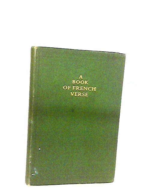 A Book Of French Verse By Ceppi, M (Ed)