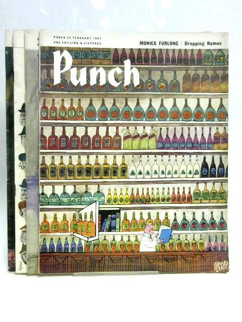 Punch 1, 8, 15, 22 Feb 1967 (4 x Issue) by Anon