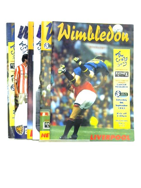 Wimbledon Football Programmes x 6 1995 - 2000 (Various Dates) By Anon