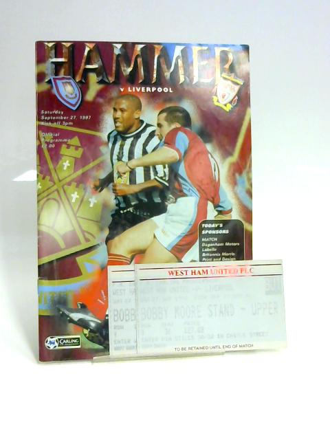 Hammer v Liverpool Official Programme 26th September by Unknown