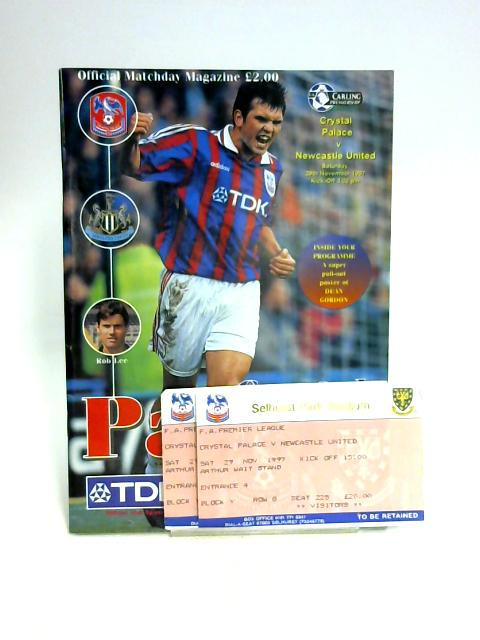 Programme for Crystal Palace v Newcastle Utd 29th Sept 1997 By Anon