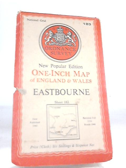 One-Inch Map of England and Wales Sheet 183 Eastbourne By Anon