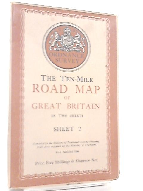 Map Of Uk No Labels.The Ten Mile Road Map Of Great Britain Sheet 2 By Anon