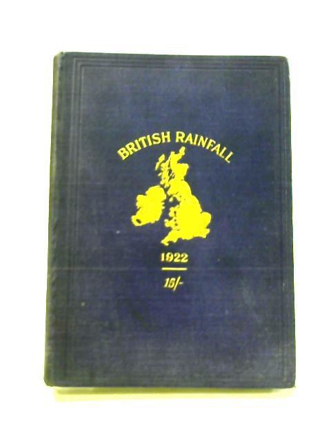 British Rainfall 1922 by G.J. Symons