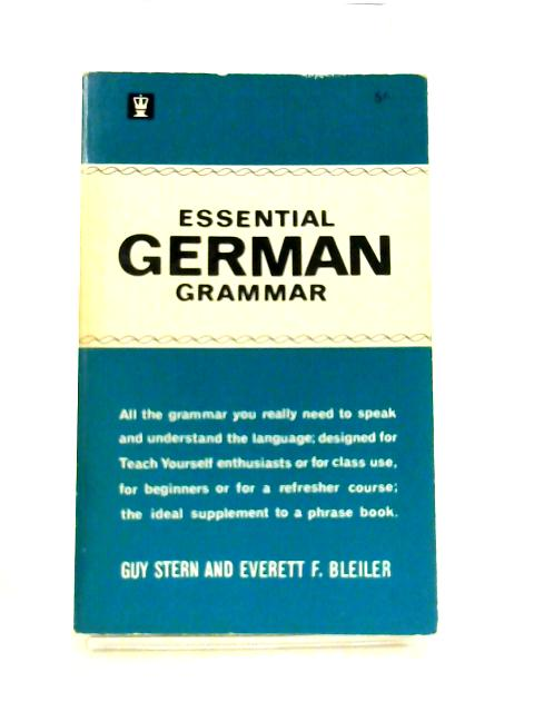 Essential German Grammar by Guy Stern