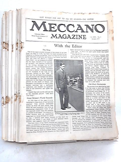 Meccano Magazine Volume XXII Nos 1-11 Jan-Nov 1937 (11 issues) by Anon