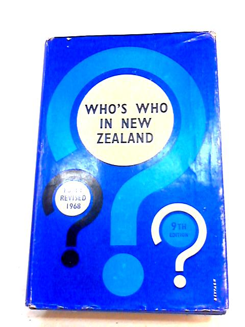 Who Who in New Zealand By G.C. Petersen