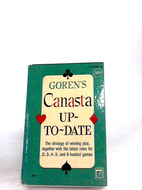 Canasta Up-To-Date by Charles H. Goren