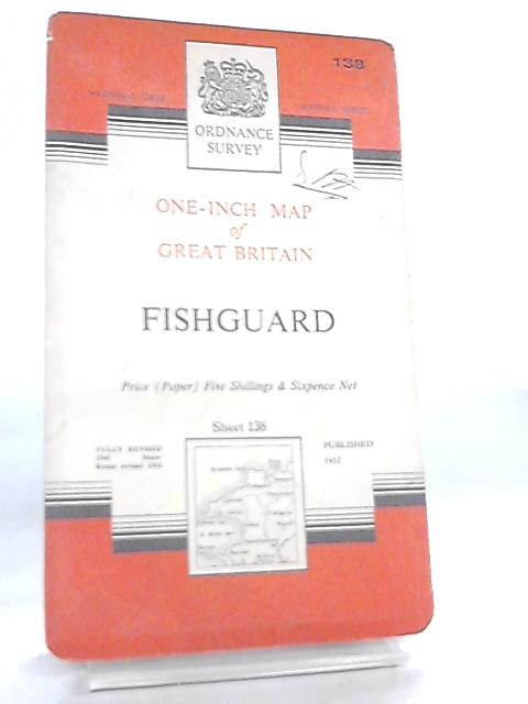 Map Of Uk No Labels.One Inch Map Of Great Britain Sheet 138 Fishguard By Anon