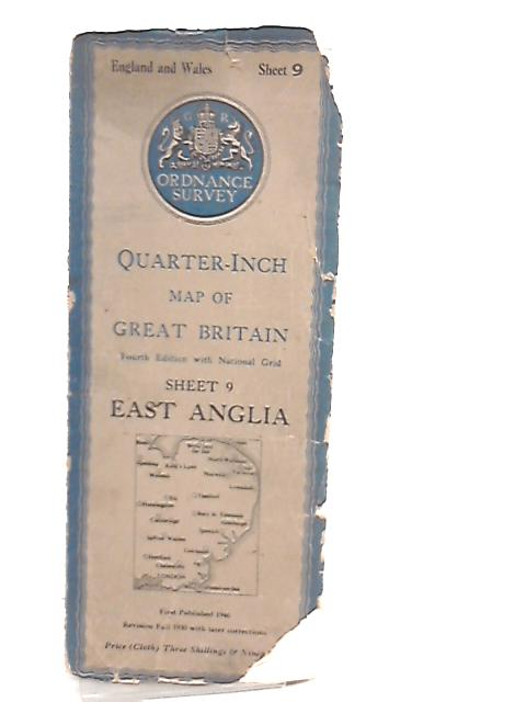 Quarter Inch Map Of Great Britain with National Grid, Sheet 9 East Anglia by Anon