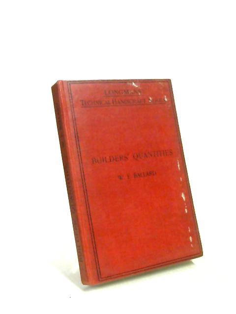 Builders' Quantities by W. M. Edgar Ballard