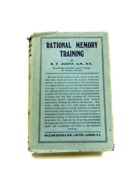 Rational Memory Training by B.F. Austin
