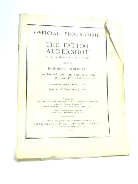 The Tattoo Aldershot Official Programme by Various