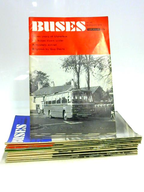 Buses Magazine: Jan - Dec 1974 (12 x Issues) by Anon