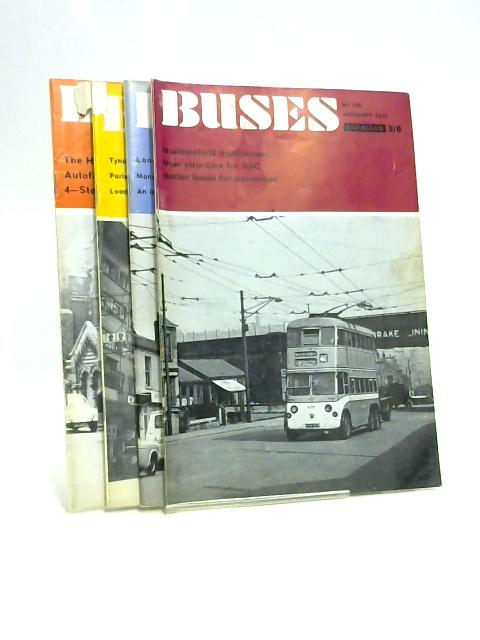 Buses Magazine: Jan - Apr 1971 (4 x Issues) by Anon