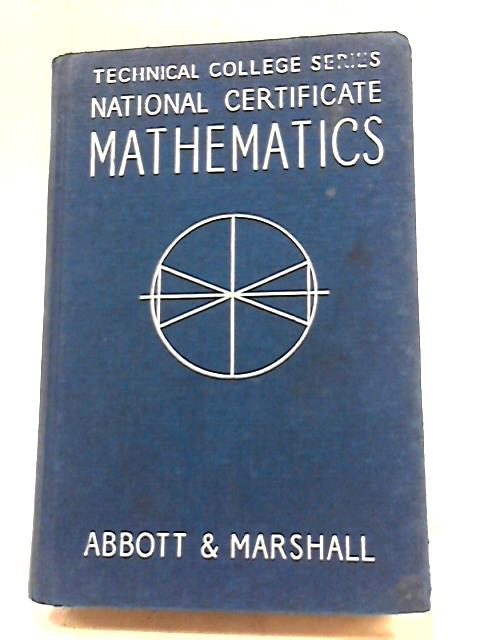 National Certificate Mathematics. Volume 2: Second Year Course. by Marshall, H