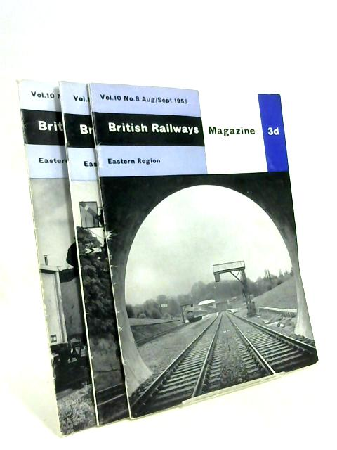 British Railways Magazine eastern region Volume 10 Nos 8, 10, 11 By Anon