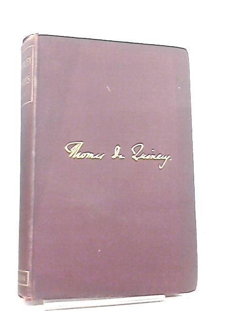 De Quincey Memorials Volume II by A. H. Japp